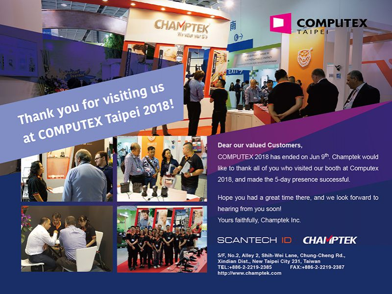 2018 Computex-Jun.05-09 Thank You For Participating!